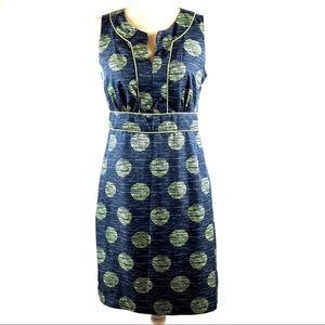 Banana Republic Silky Polka Dot Sheath Dress